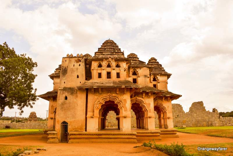 queen's house at Hampi!