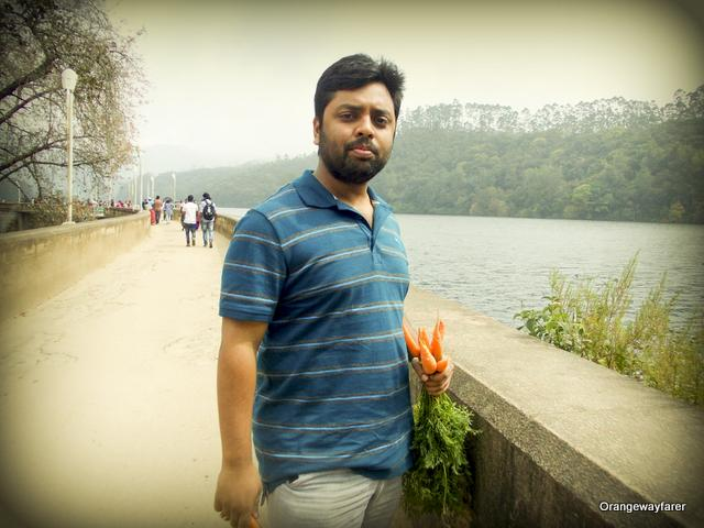 By the matupetty Dam, Munnar where locally grown fresh carrots are sold!