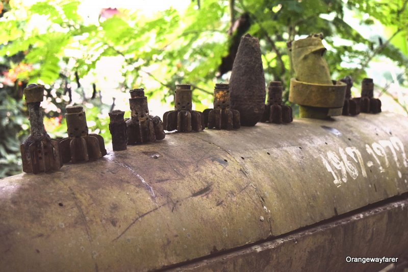Discarded bombs at Laos