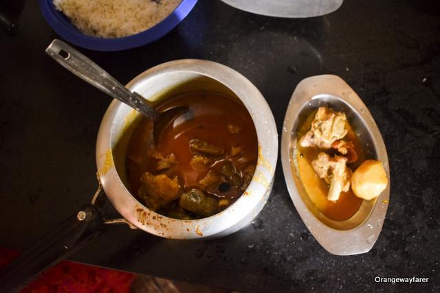 pressure cooker cooked Bengali styled Mutton Kosha
