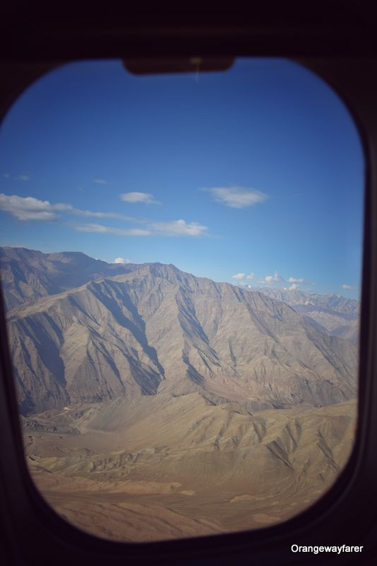 Ladakh as seen from the flight window