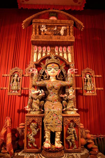 Maa durga idol, painted by Sanatan Dinda, the famous artist   #durga #kolkata #kolktaculture #maadurga #kolkataphotography #india #hindufestival #indiaculture #bengalculture #indiafestival #indiatravel #kolkatatravel #goddess