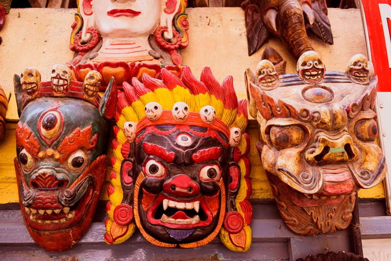 Bhairab mask for Bhairab Dance in Nepal