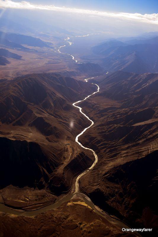 Zanskar river and Indus river confluence in Ladakh