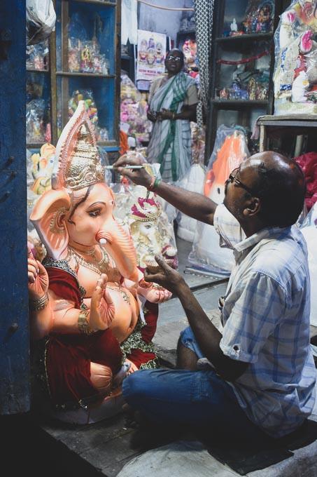 Ganesh murti in Kumartuli
