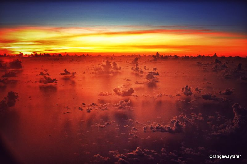 Sunrise on clouds