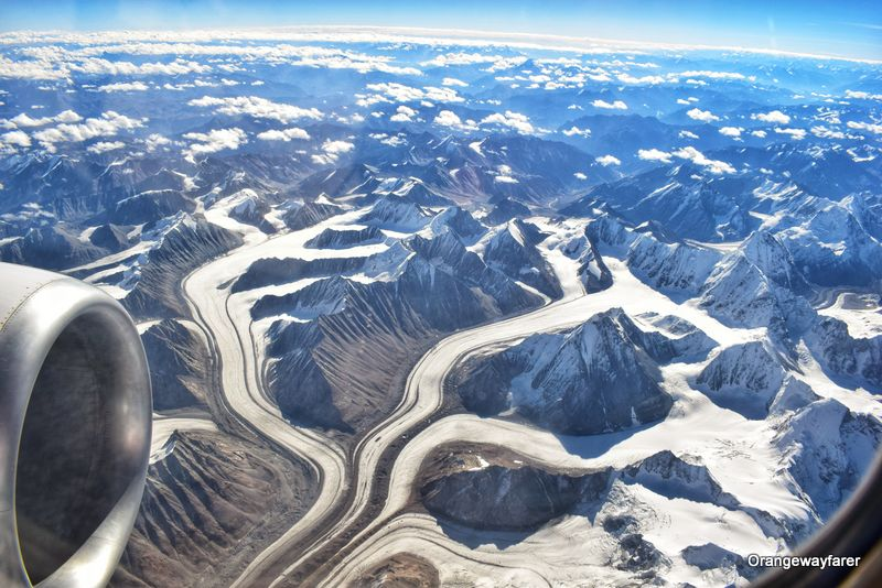 Glaciers over the Himalayas