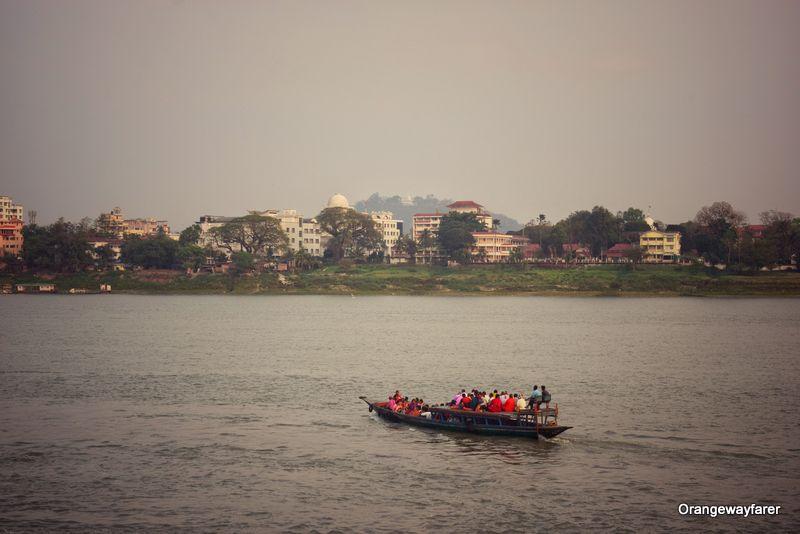 Bramhaputra River and Guwahati