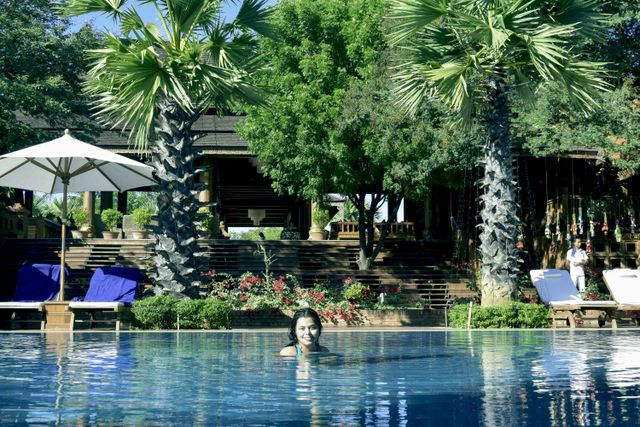 Swimming pool of Heritage Bagan Hotel