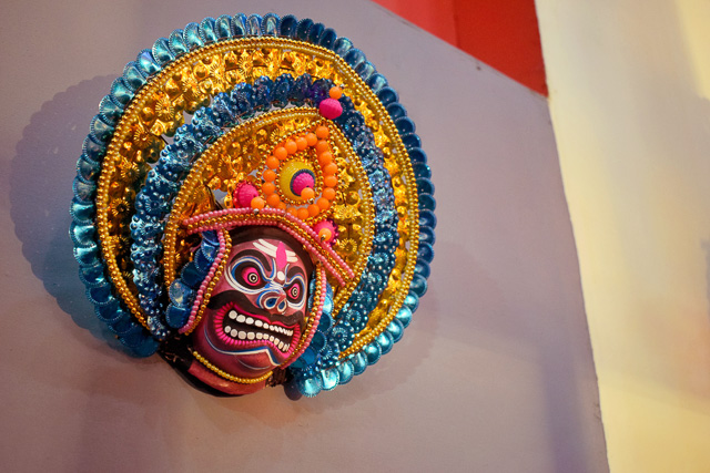 purulia Chhau mask used for decoration in Durgapuja