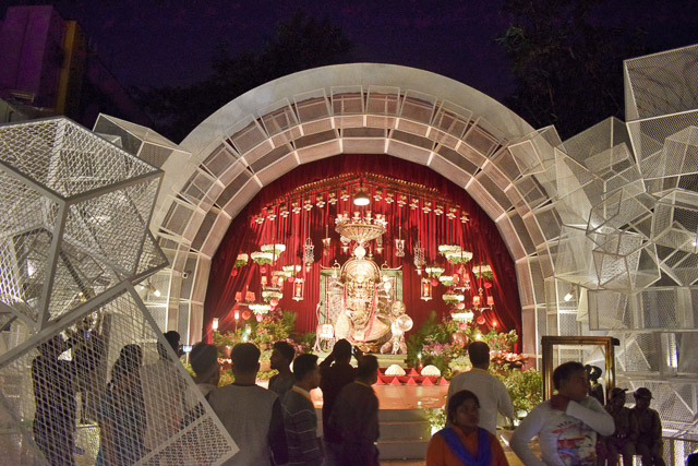 durga puja decoration: durgapuja festival photo from Kolkata