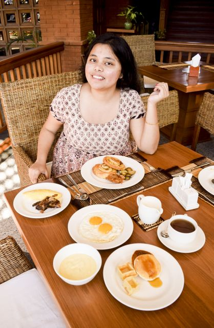 Breakfast spread at Heritage Bagan Hotel