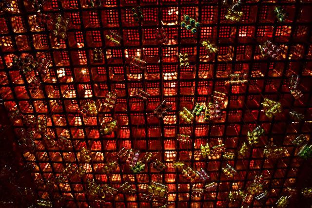 durga puja light decoration in Pandal, Kolkata
