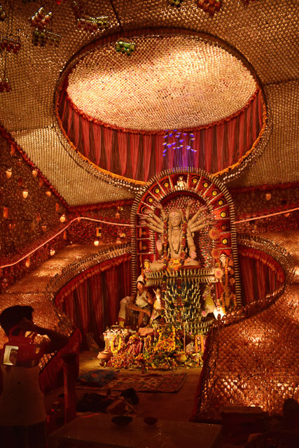 durga puja decoration in Kolkata #durga #kolkata #kolktaculture #maadurga #kolkataphotography #india #hindufestival #indiaculture #bengalculture #indiafestival #indiatravel #kolkatatravel #goddess