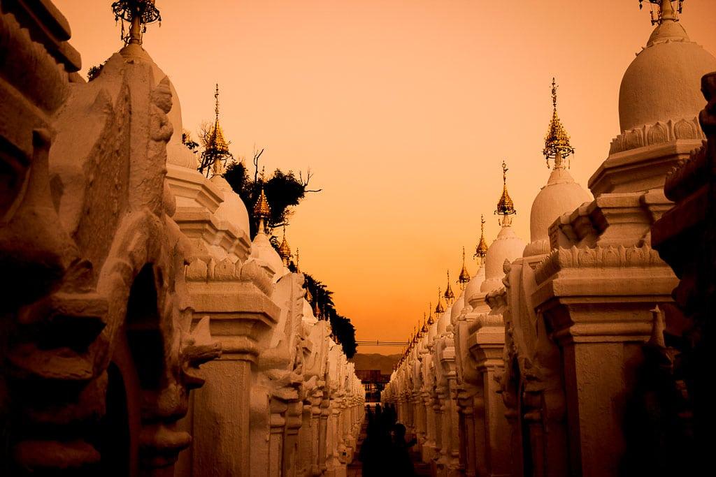 Backpacking Myanmar fo rtwo weeks. Kuthodaw Pagoda