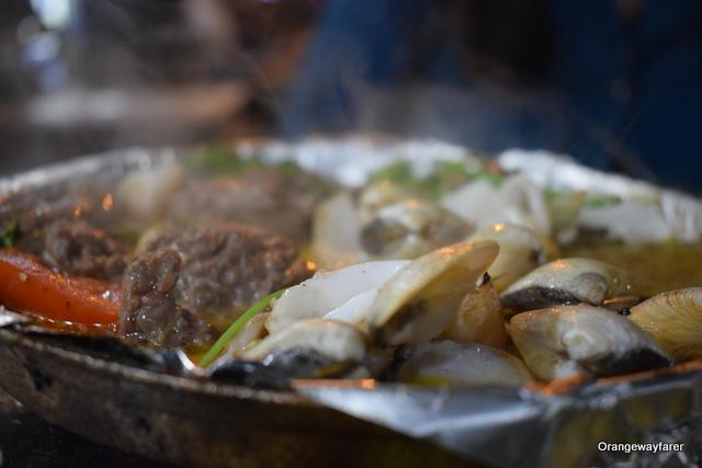 It pops us! The hot plate is ready to be eaten! Hanoi Street Food