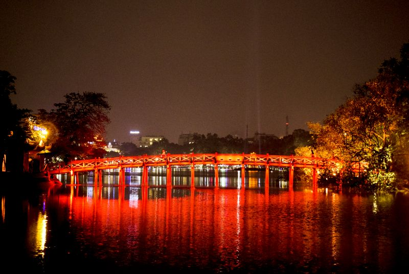 Hanoi Hoam Kien Lake Bridge
