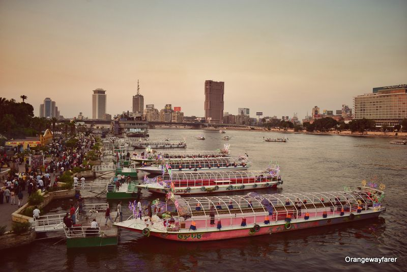 Sunset by Nile river