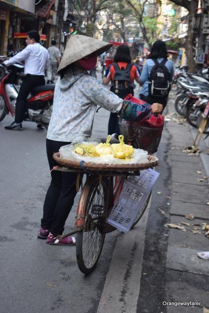 Fresh fruit on Hanoi Old Quarter street