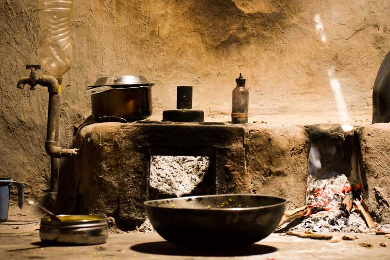 A rural kitchen in India: Purushwadi Travel Blog, eco tourism near Mumbai