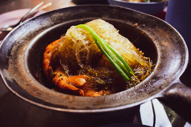 Best Glass noodles with steamed prawn at China Town, bangkok: things to eat in Bangkok