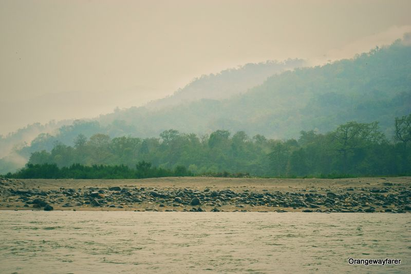 Manas river, india bhutan border