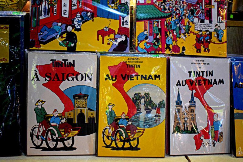 tintin in vietnam poster