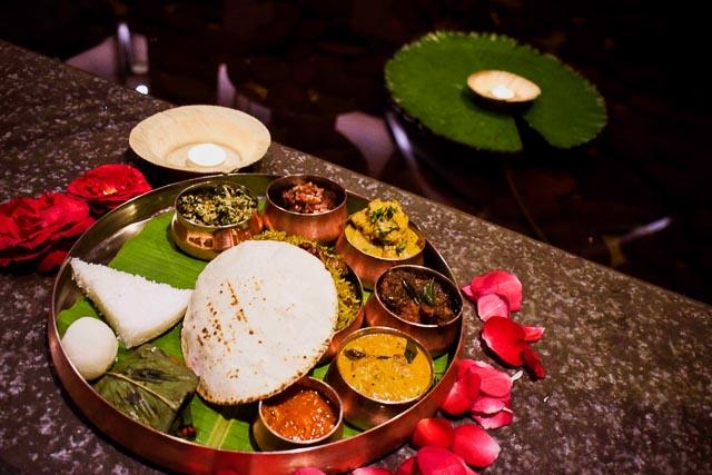 Traditional coorgi Thali: taj madikeri resort & spa, coorg madikeri, karnataka