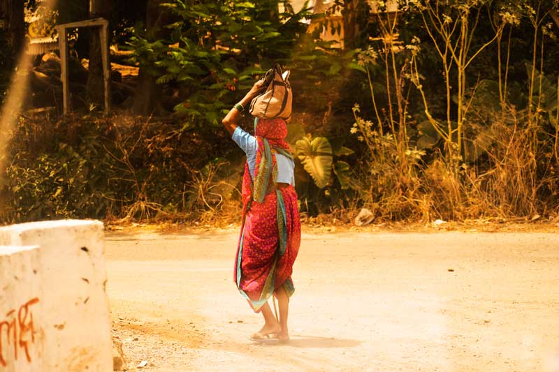 Marathi woman from Rural Maharashtra: Tribal dress of Maharashtra