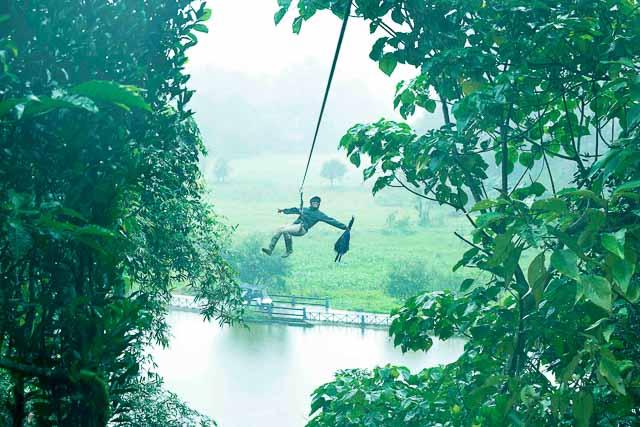 taj madikeri resort & spa, coorg madikeri, karnataka: Ziplining in Coorg