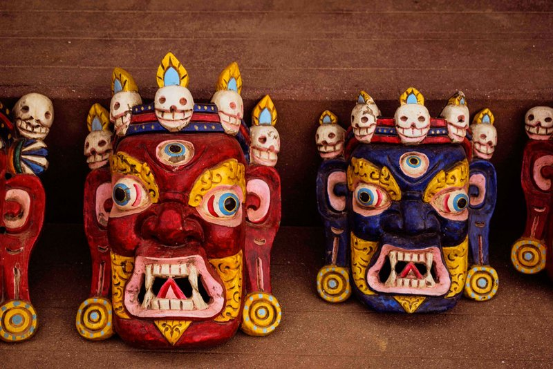 demon mask. tibetan mask