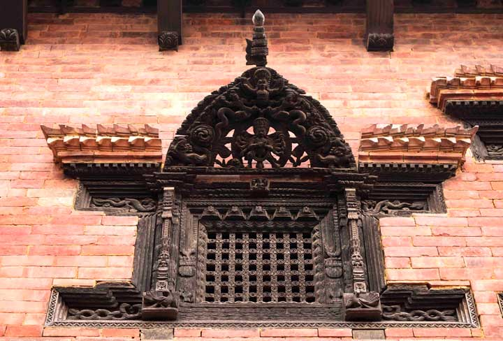 peacock window Bhaktapur nepal