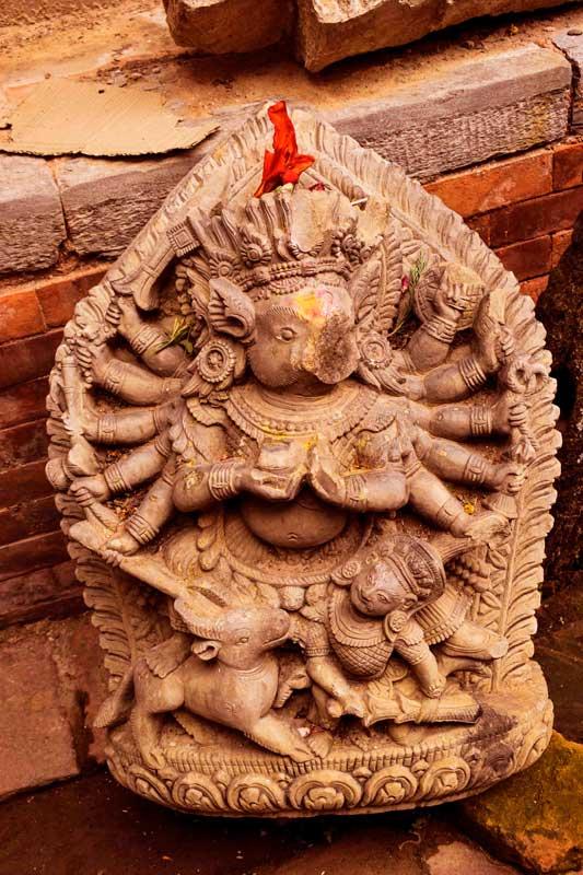 The Barahi Goddess Bhaktapur, Nepal. Hindu Goddess with the face of a boar