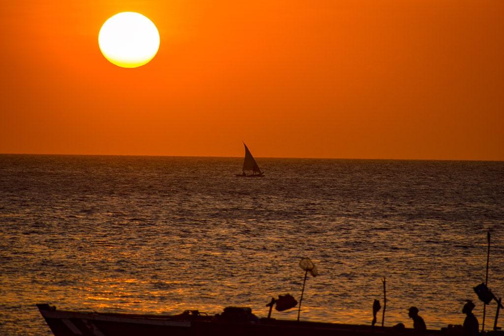 Sunset shot at Stone Town, Zanzibar