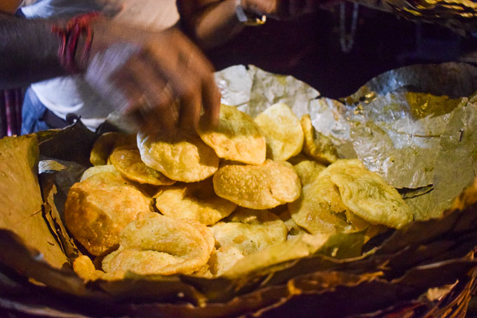 Kachuri in Kolkata sold at Decker's Lane street food