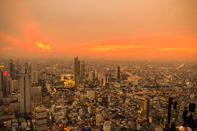 Sunset in bangkok. Viewed from Mahanakhon Skywalk