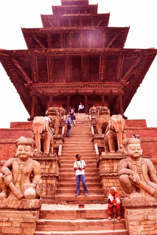 Nyataponla Temple, the best kept secret of Nepal, a Tantrik temple