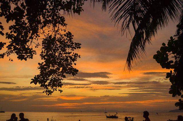 Sunset at Railay: most beautiful secret beach in Thailand