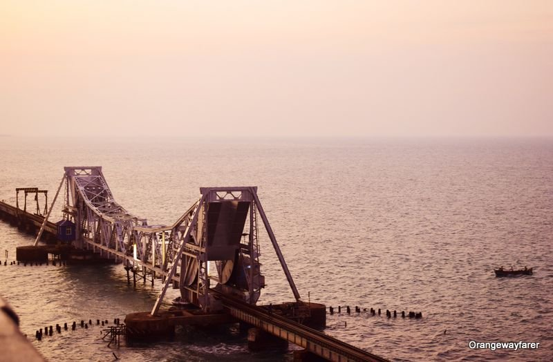 Pamban bridge during Sunset: Things to do at Rameswaram