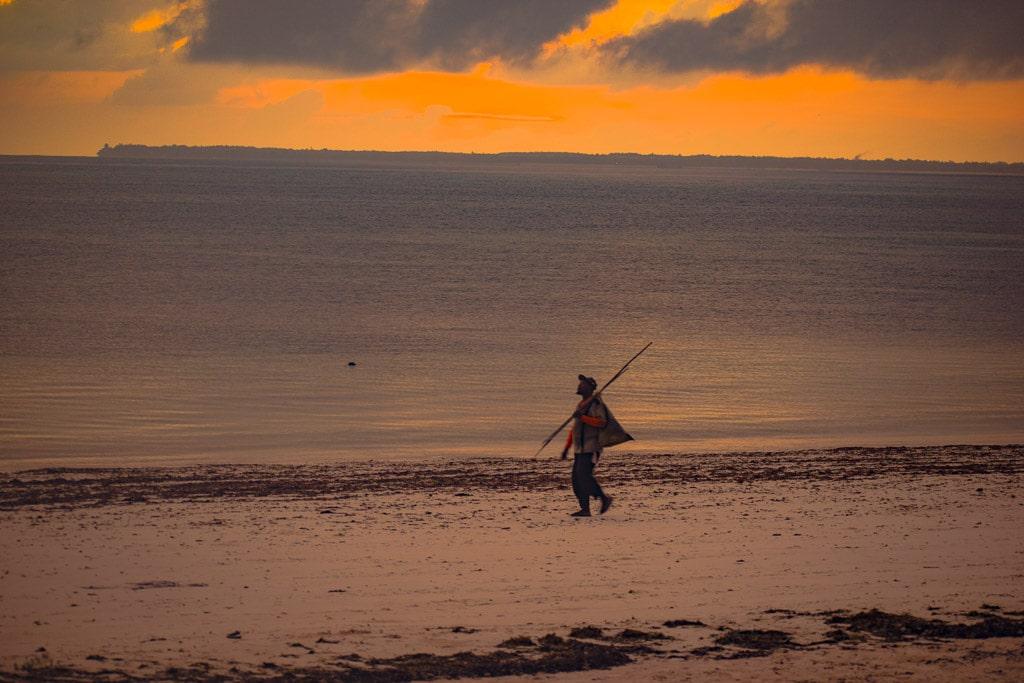 Sunrise at Uroa beach resort zanzibar