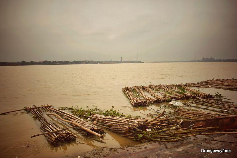 Burning Ghat by river Ganges