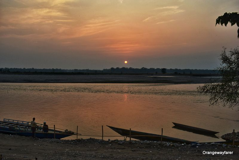 Sunset at Manas river