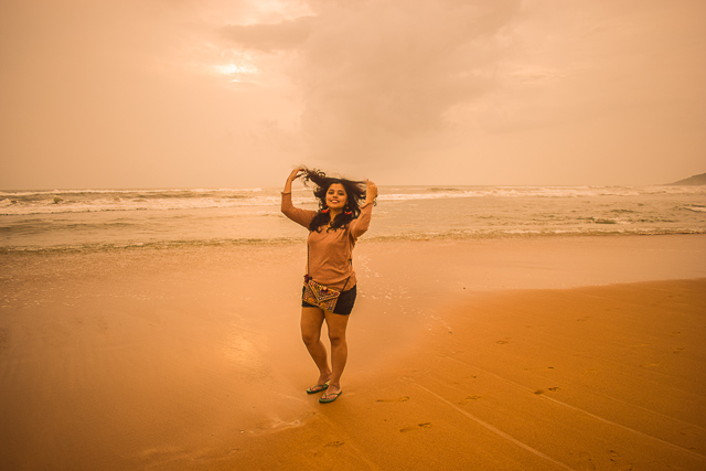 Offbeat beaches in Goa: Baga Beach in Goa, The crowded beach is left empty during monsoon.