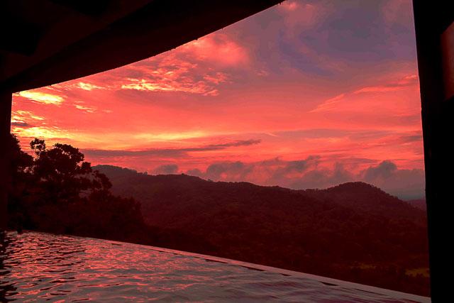 taj madikeri resort & spa, coorg madikeri, karnataka: Sunset at coorg