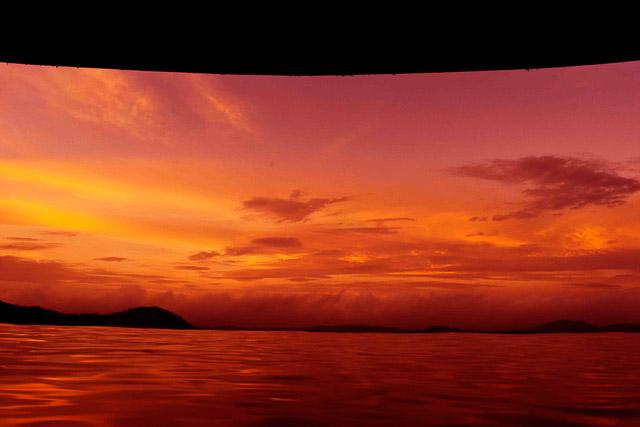taj madikeri resort & spa, coorg madikeri, karnataka: sunset view from Infinity pool
