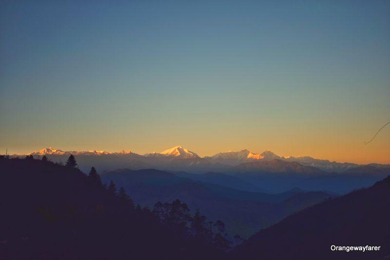 Sunset rays at Himalaya Arunachal Pradesh