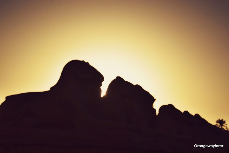 Sunset over Luxor temples