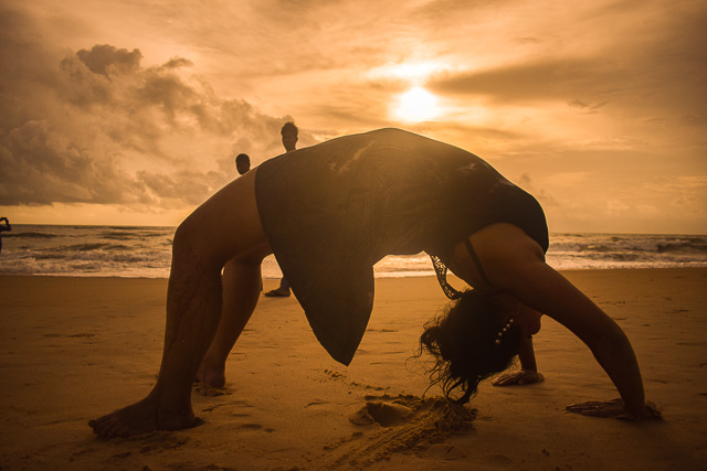 Yoga on the Goa beach
