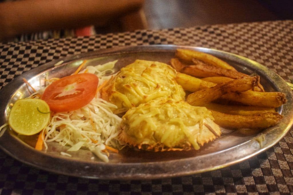 Cheese crab at Suza lobo, Baga: Best place to eat in Goa