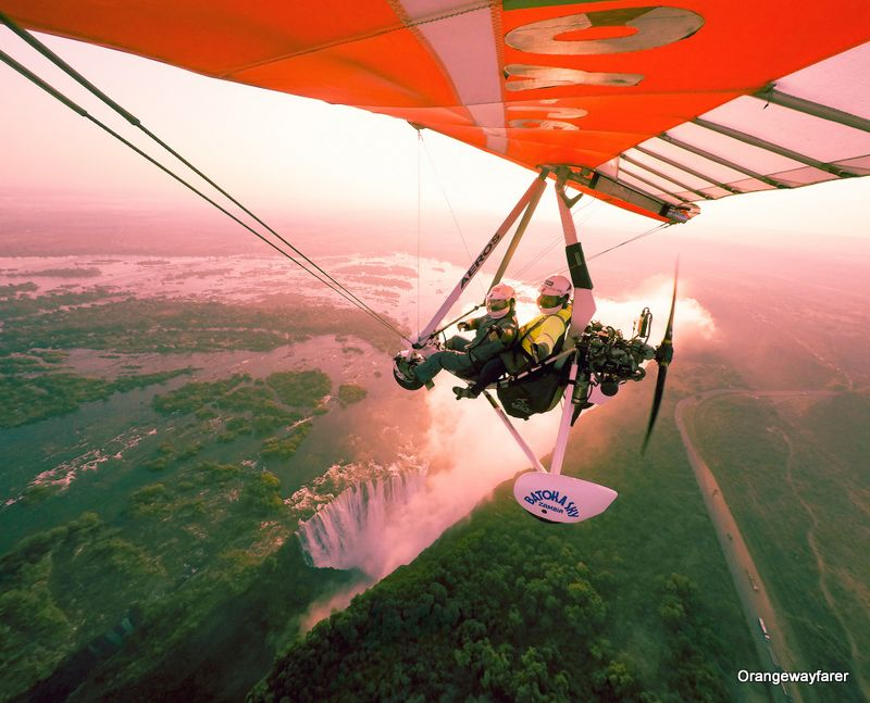 Microlight flight in Zambia